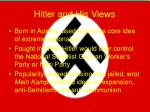 hitler and his views