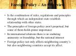 foreign policy an overview