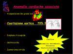 anomalie cardiache associate