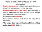 polio eradication is based on four strategies