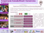 coopera o canad brasil cons rcios p blicos