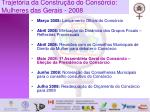 trajet ria da constru o do cons rcio mulheres das gerais 2008