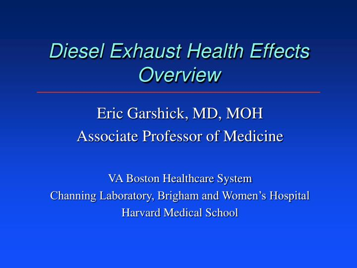 diesel exhaust health effects overview n.