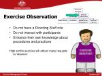 exercise observation