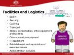 facilities and logistics