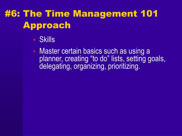 #6: The Time Management 101