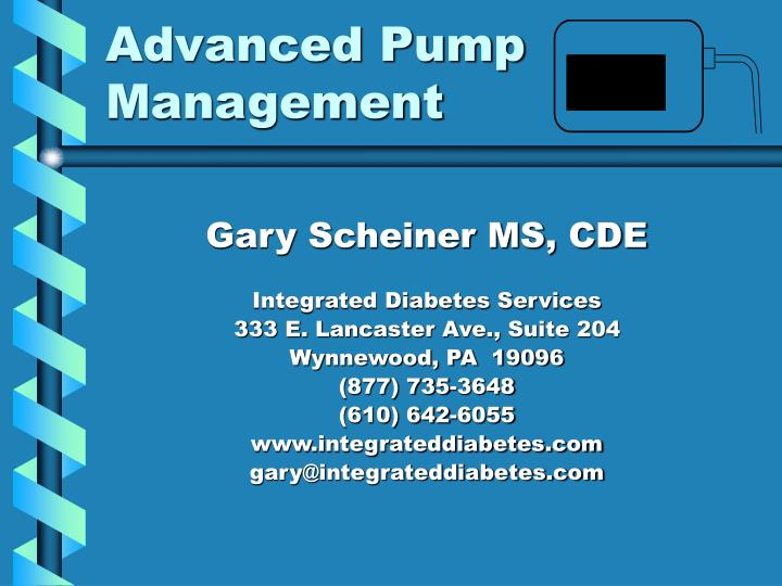advanced pump management n.
