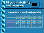 physical activity adjustments2