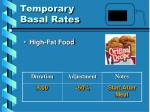 temporary basal rates1