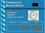 temporary basal rates9