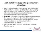 aoa initiatives supporting consumer direction