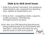 state or aaa level issues