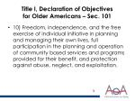 title i declaration of objectives for older americans sec 101