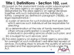title i definitions section 102 cont