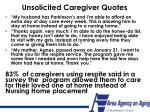 unsolicited caregiver quotes