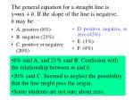 the general equation for a straight line is y m x b if the slope of the line is negative b may be