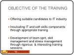 objective of the training1