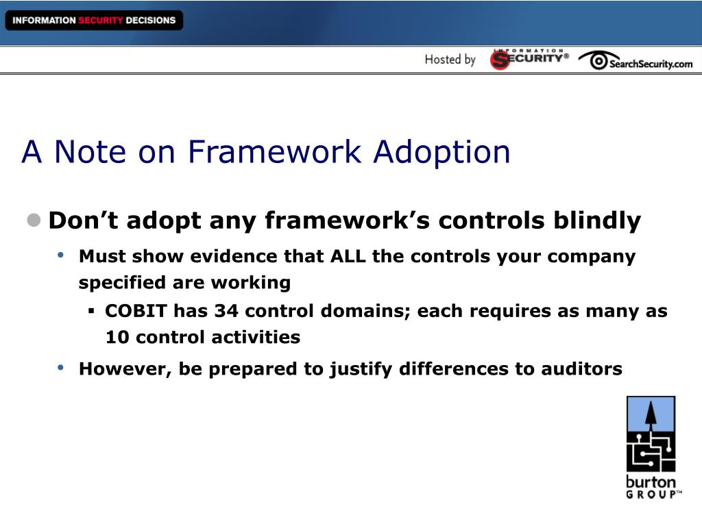 A Note on Framework Adoption