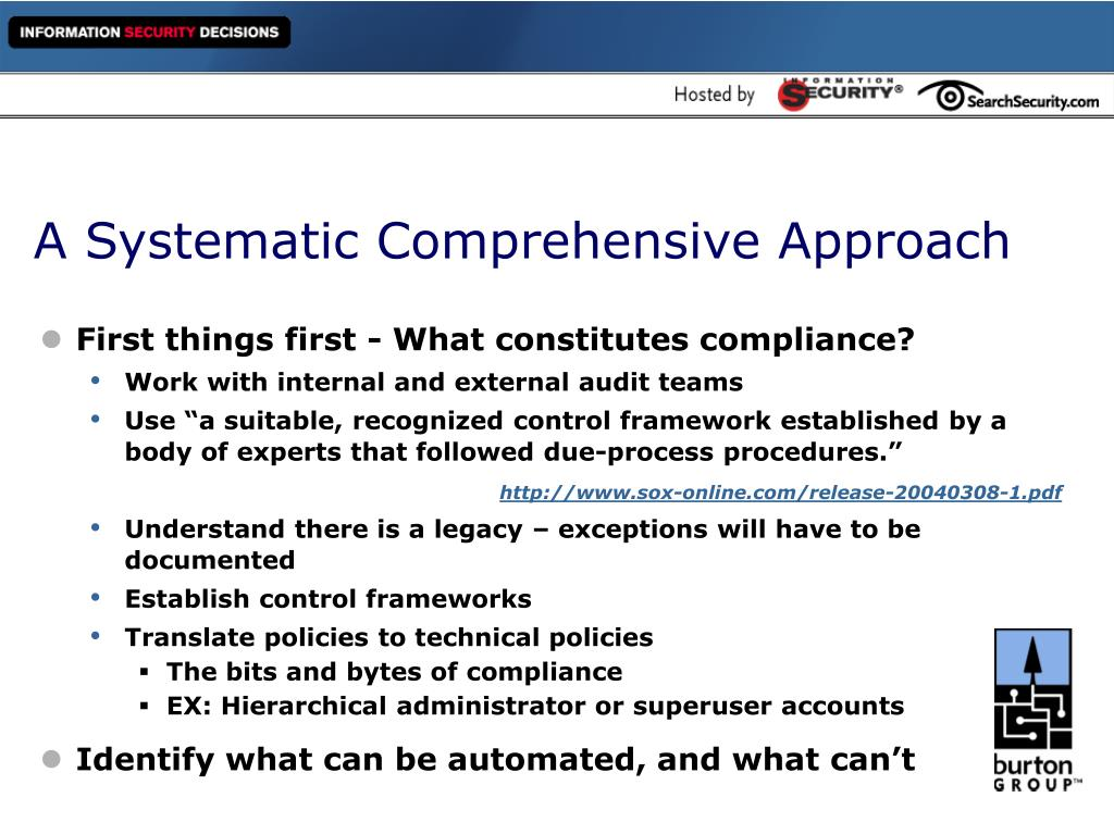 A Systematic Comprehensive Approach