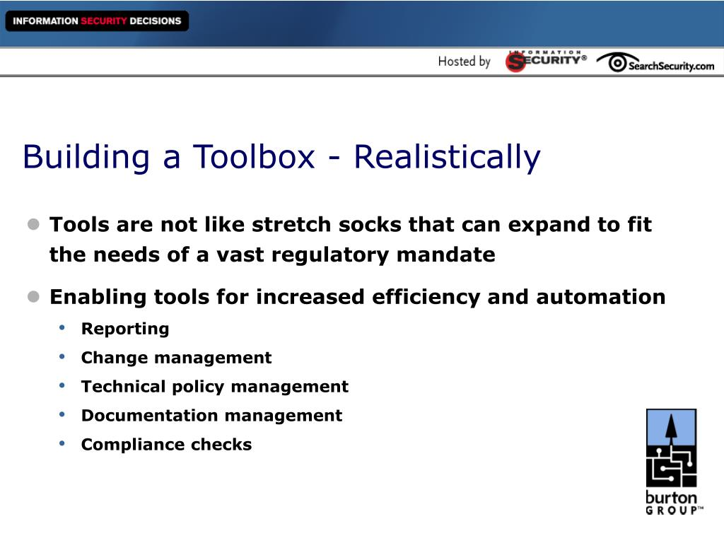 Building a Toolbox - Realistically
