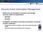 security event information management