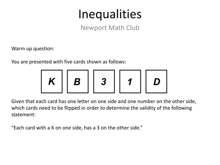 inequalities n.