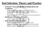 tool selection theory and practice1
