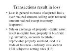 transactions result in loss