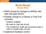 buck boost future work