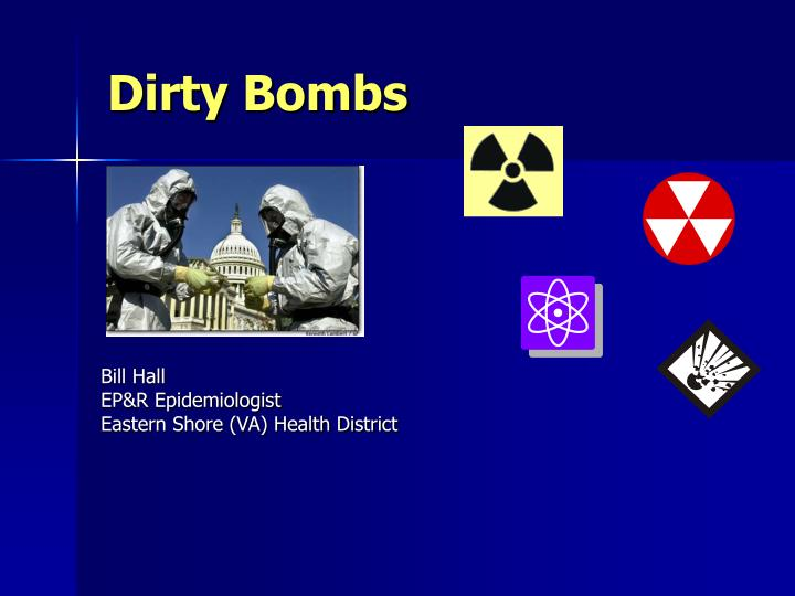 dirty bombs n.