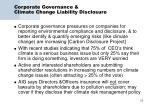 corporate governance climate change liability disclosure