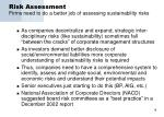 risk assessment firms need to do a better job of assessing sustainability risks