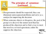 the principles of consensus continued