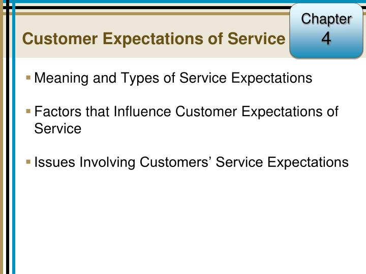 customer expectations of service n.