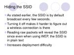 hiding the ssid