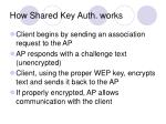 how shared key auth works