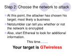 step 2 choose the network to attack