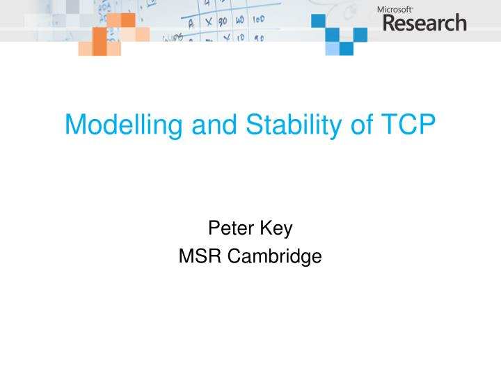 modelling and stability of tcp n.