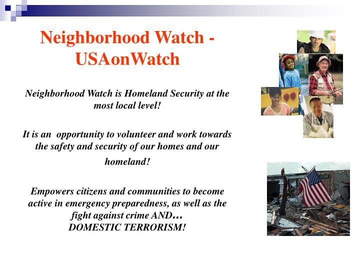 Neighborhood Watch -