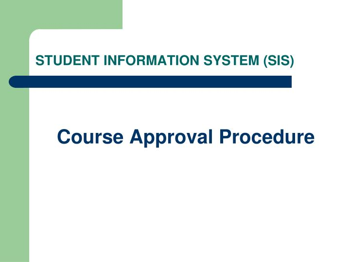 student information system sis n.