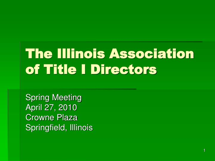 the illinois association of title i directors n.