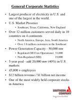 general corporate statistics