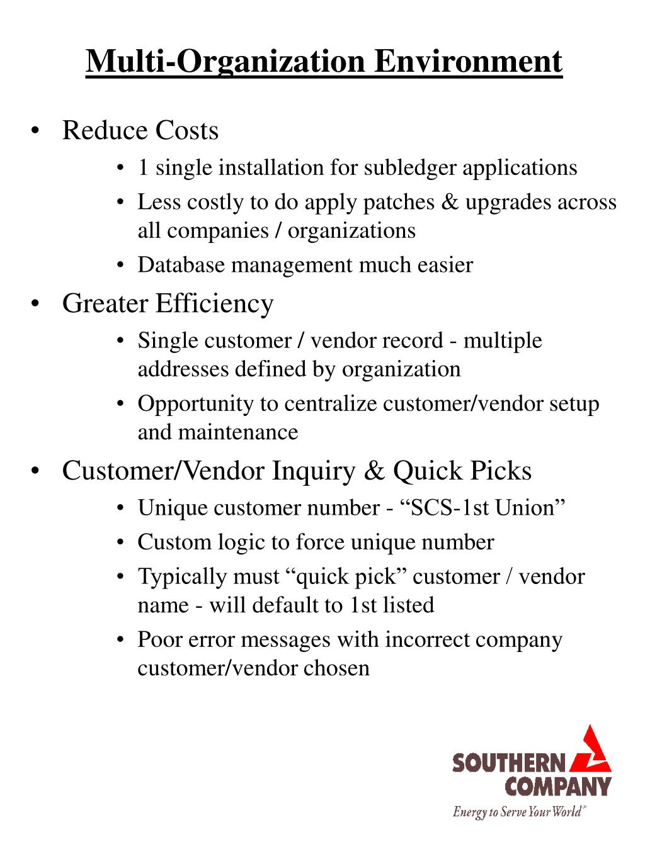 Multi-Organization Environment