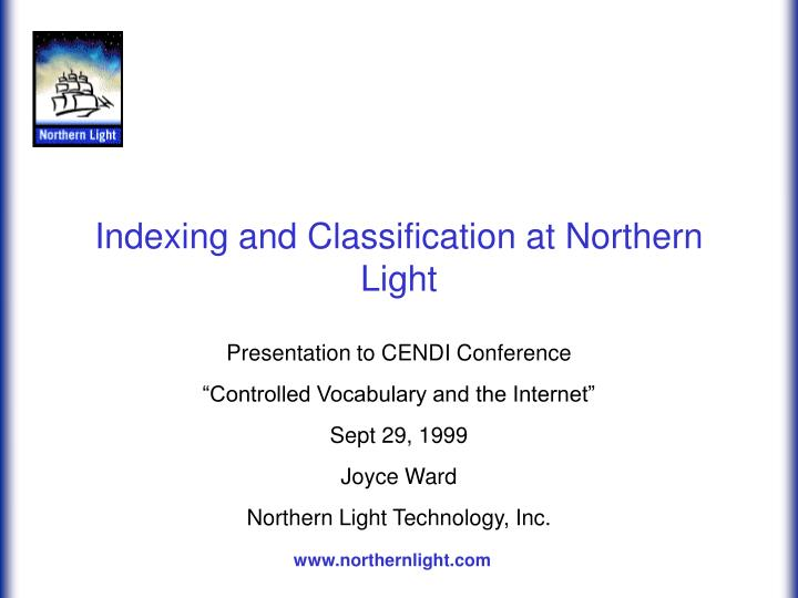 indexing and classification at northern light n.
