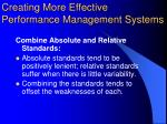 creating more effective performance management systems1