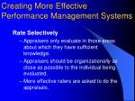 creating more effective performance management systems4