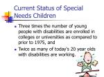 current status of special needs children