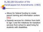 pl 98 199 education of the handicapped act amendments 1983