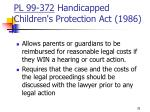 pl 99 372 handicapped children s protection act 1986