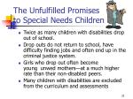 the unfulfilled promises to special needs children